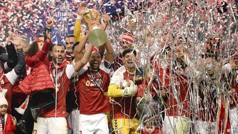 Taça da Liga: Cerimónia da entrega do troféu ao SC Braga