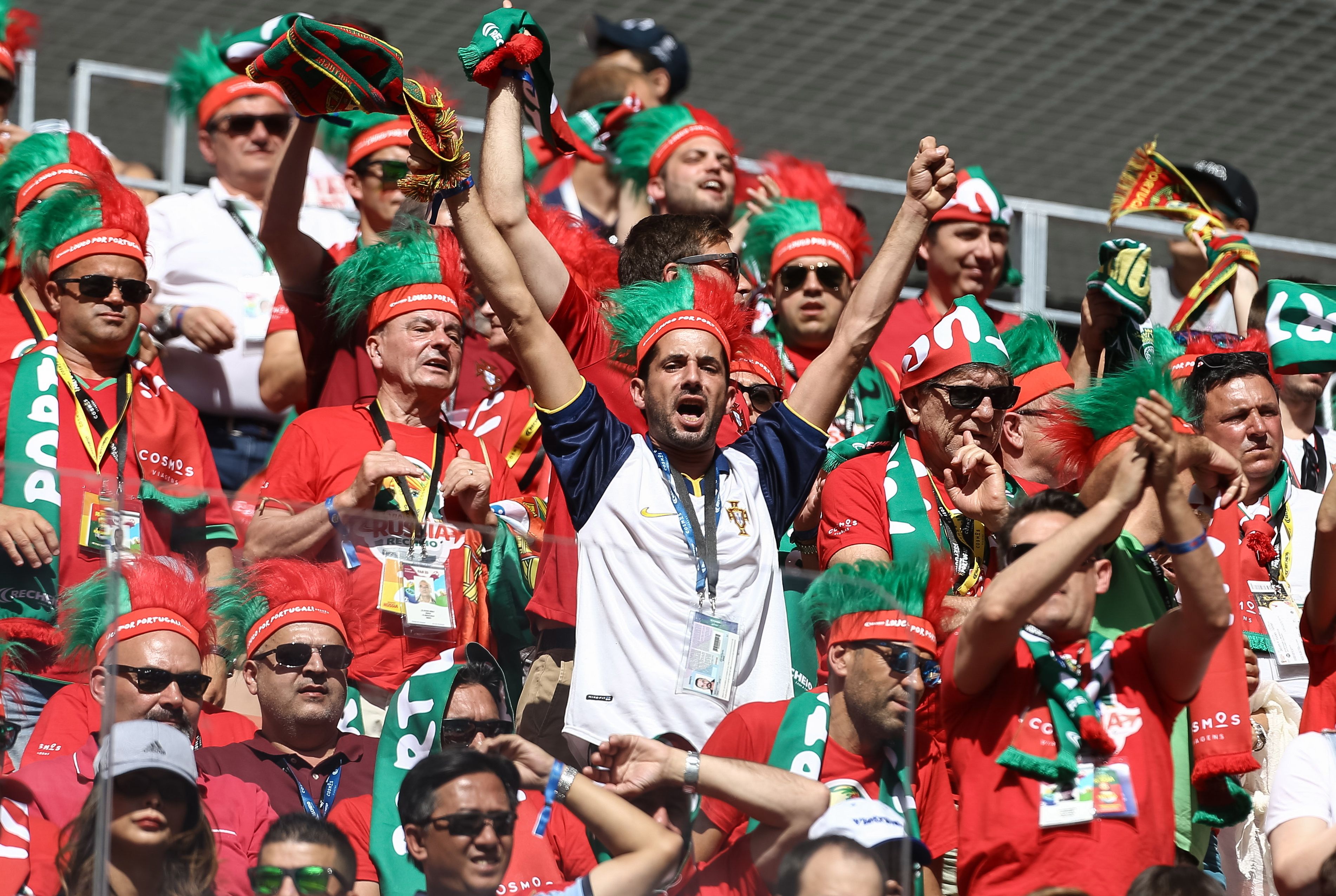 Adeptos portugueses em Moscovo esperavam mais da seleção portuguesa