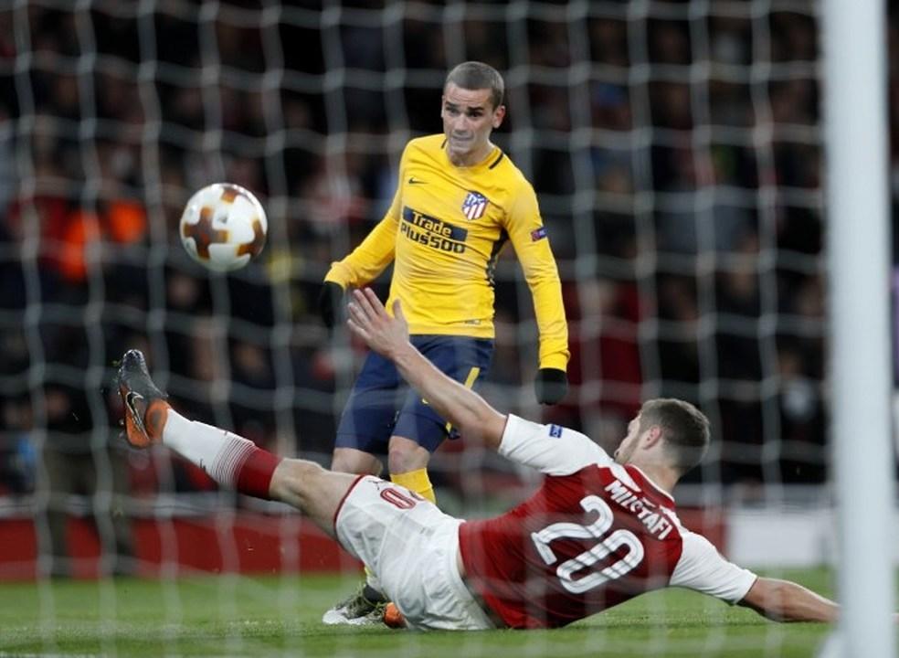 Liga Europa: Griezmann castiga festival de falhanços do Arsenal e coloca Atlético em vantagem