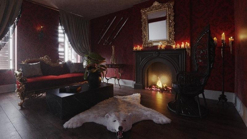 As portas da mansão da Família Addams abrem-se para o Halloween