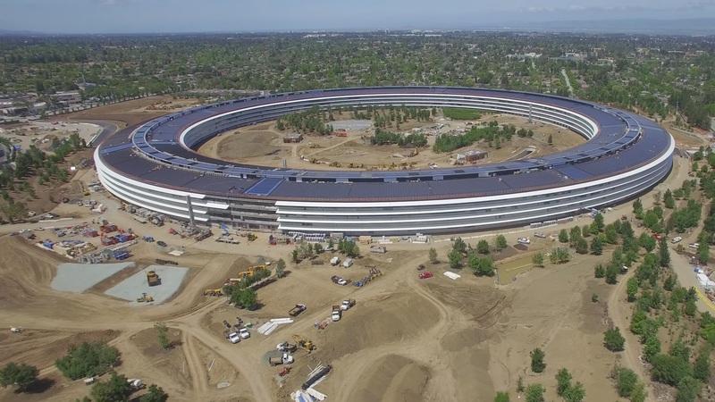 Apple Park: Drone mostra que ainda há muito a fazer