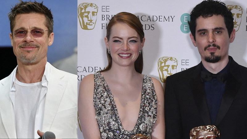 "Brad Pitt e Emma Stone: realizador de ""La La Land"" vai juntar dupla de sonho no cinema"