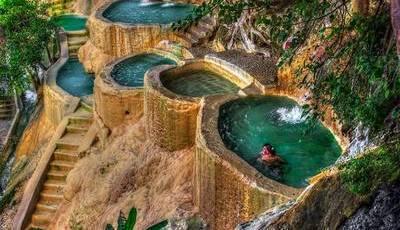 Estas piscinas de água quente no México são incríveis