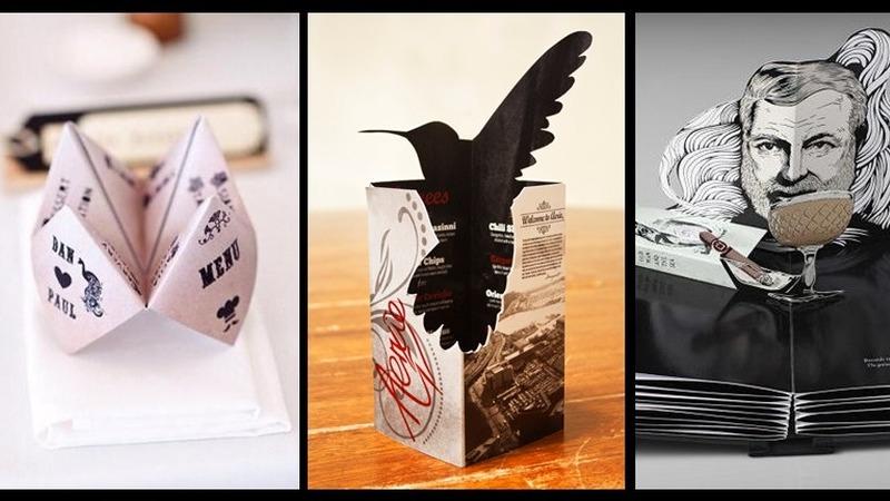 Estas são algumas das cartas de menu mais criativas do mundo