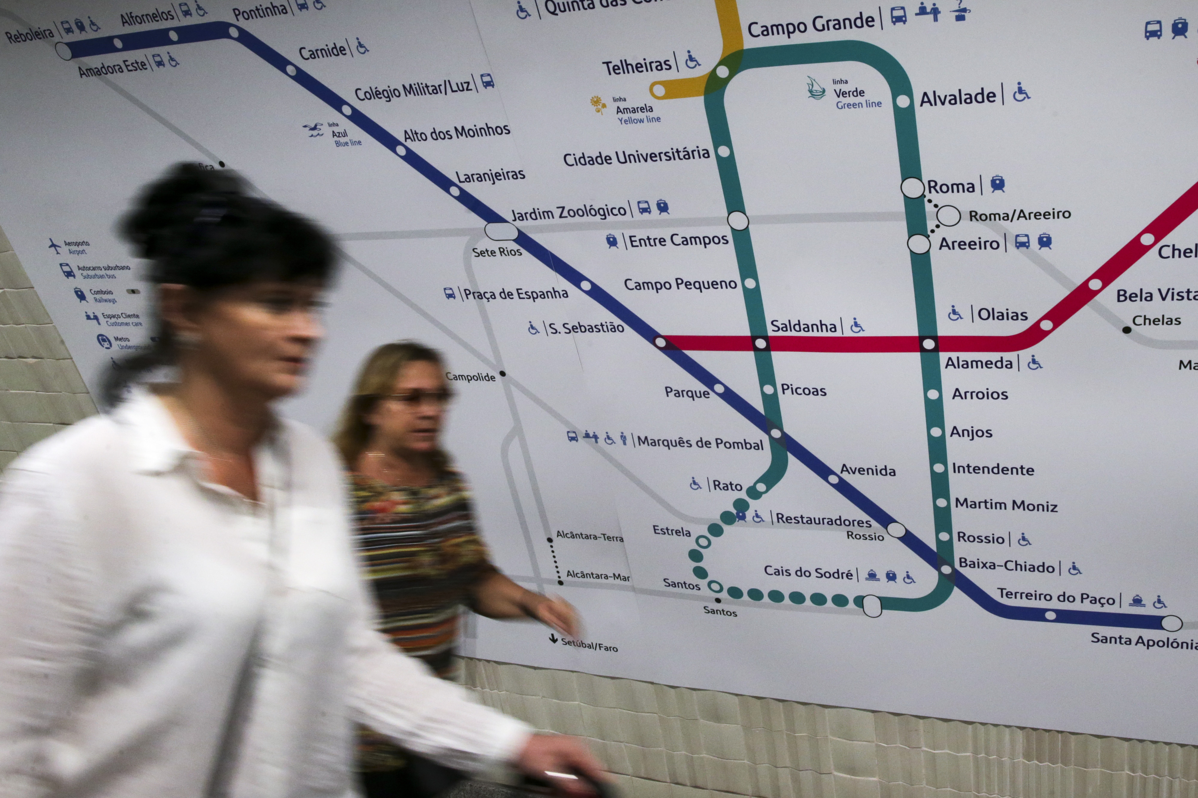 Lisboa: Linha amarela com circulação interrompida devido a incidente com passageiro