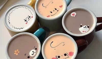 Coreano brinca com espuma de café e faz desta ilustração comestível