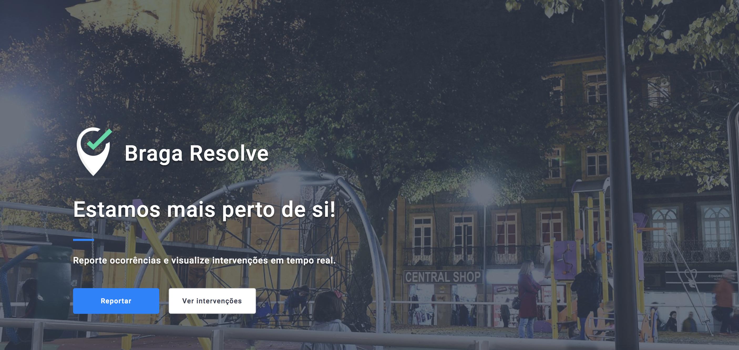 """Braga Resolve. A aplicação para """"reportar"""" problemas de forma """"simples e rápida"""""""
