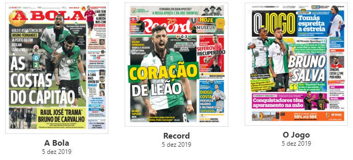 Revista de imprensa: Sporting 'às costas do capitão'