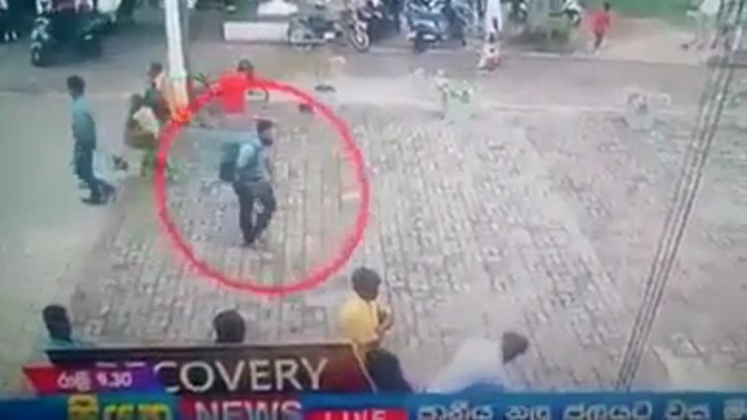 Autoridades divulgam vídeo com um dos bombistas dos atentados no Sri Lanka
