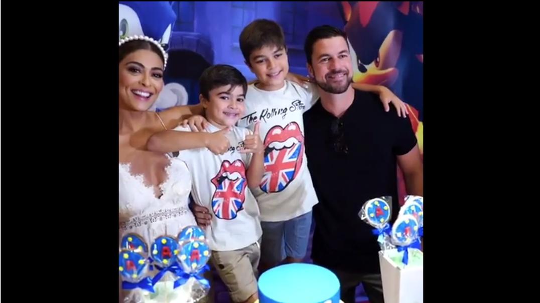 Juliana Paes celebra aniversário do filho