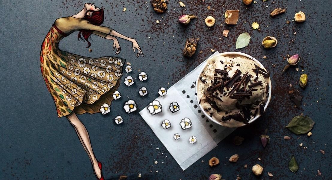 Fotógrafa italiana cria ilusões digitais com alimentos e pintura