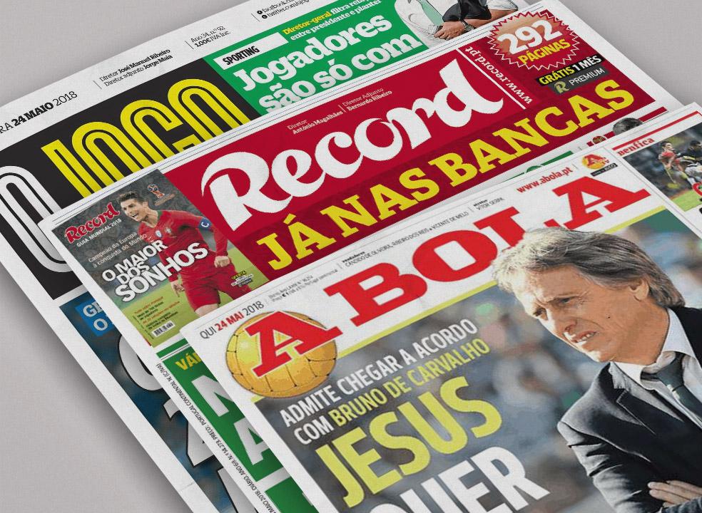 Revista de imprensa: Das potenciais saídas em Alvalade a uma Champions que não é para todos
