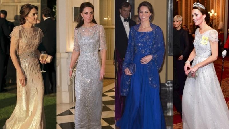 Ao estilo de uma princesa: alguns dos melhores vestidos de noite usados por Kate