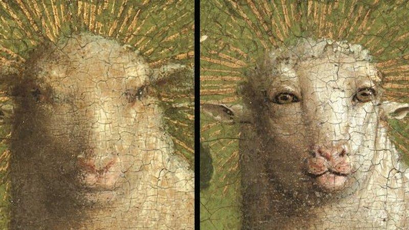 """Retábulo de igreja tem um cordeiro com aparência humana. Não, desta vez não foi o restaurador que se """"enganou"""""""
