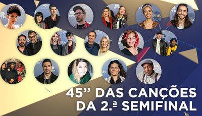 Festival da Canção: Já pode ouvir excertos dos temas da segunda semifinal