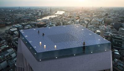Esta será a primeira piscina infinita de 360 graus que ocupa todo o último andar de um edifício