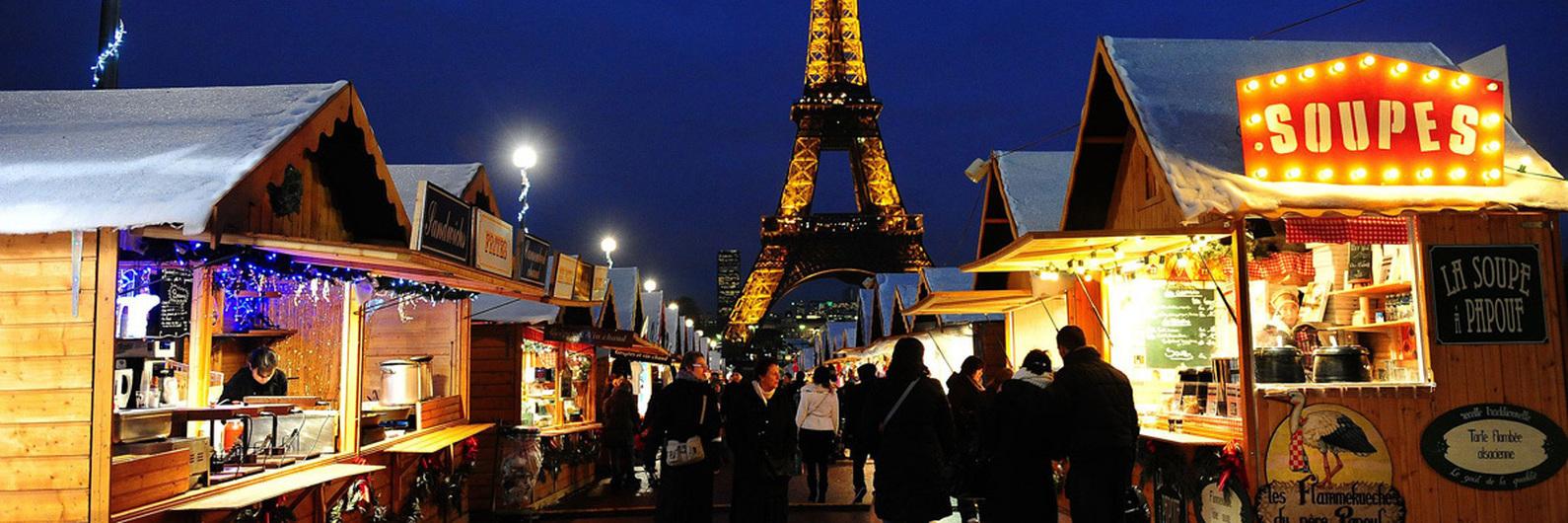 Um festival para a imaginação recheado de iluminações de Natal. Paris é para a família