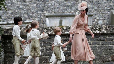 Kate Middleton deu uma reprimenda a George no casamento da irmã