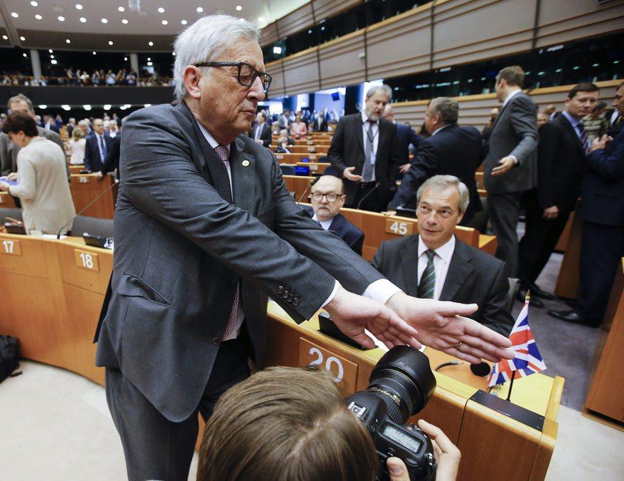 Jean Claude Juncker e Nigel Farage