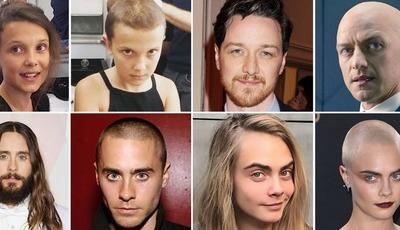 Antes e depois: Celebridades que cortaram (ou raparam) o cabelo