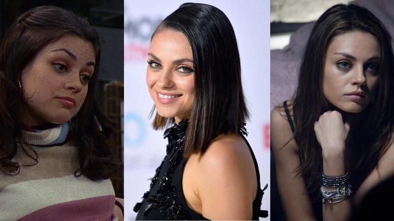 Mila Kunis fez 35 anos: quem a viu e quem a vê