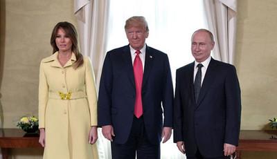 A estranha expressão de Melania Trump após apertar a mão a Vladimir Putin