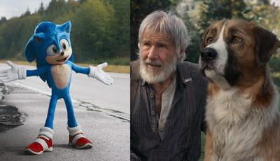"""""""Sonic"""" vence cão digital de """"O Apelo Selvagem"""" nas bilheteiras de cinema"""