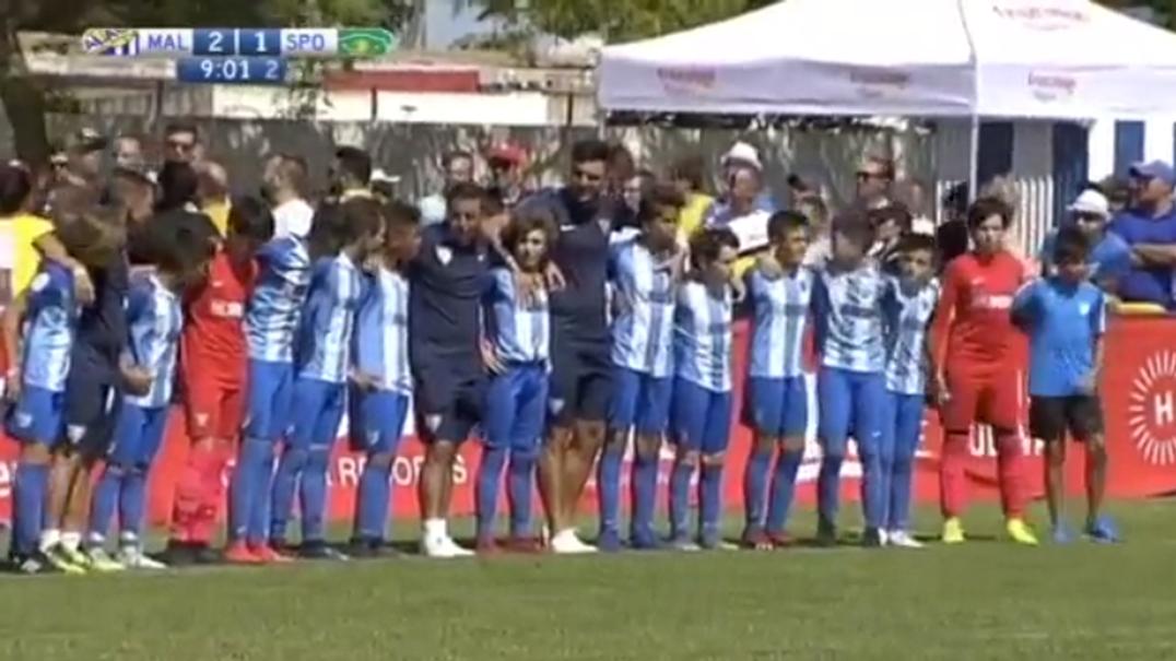 Infantis do Málaga param jogo com o Sporting para dar reprimenda aos pais por violência nas bancadas