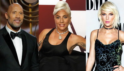 Dwayne Johnson, Lady Gaga e Taylor Swift entre os 100 mais influentes do mundo para a revista Time