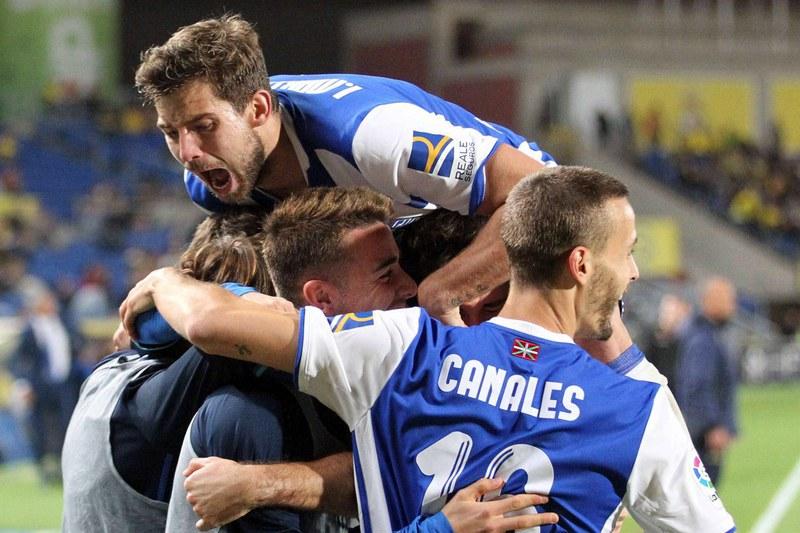 Real Sociedad vence depois de erro do guardião do Las Palmas