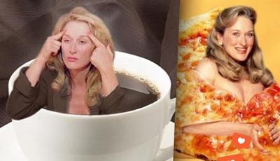 Conta de Instagram põe Meryl Streep no meio de comida (literalmente)