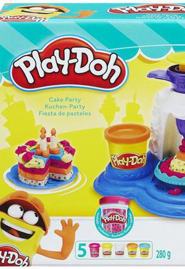 Ganhe 1 set Cake Party Play Doh