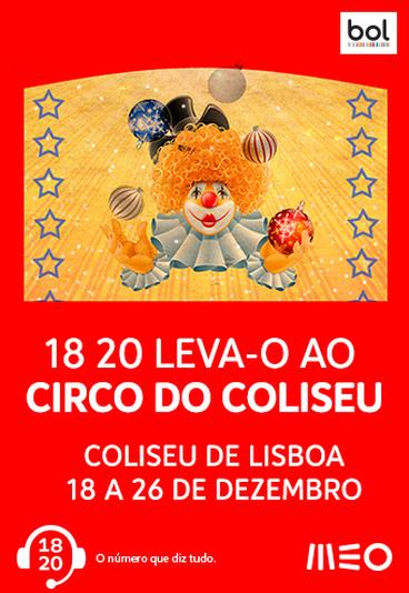 Temos para oferecer 30 convites duplos para o Circo Natal do Coliseu de Lisboa