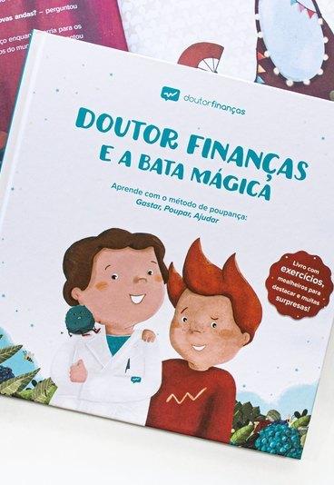 """Ganhe o livro """"Doutor Finanças e a Bata Mágica"""""""