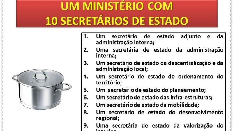 Novo Governo terá um ministério com 10 secretários de Estado?