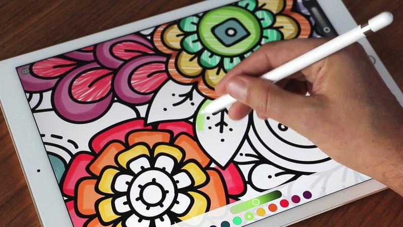 Pigment é um livro digital de colorir para adultos