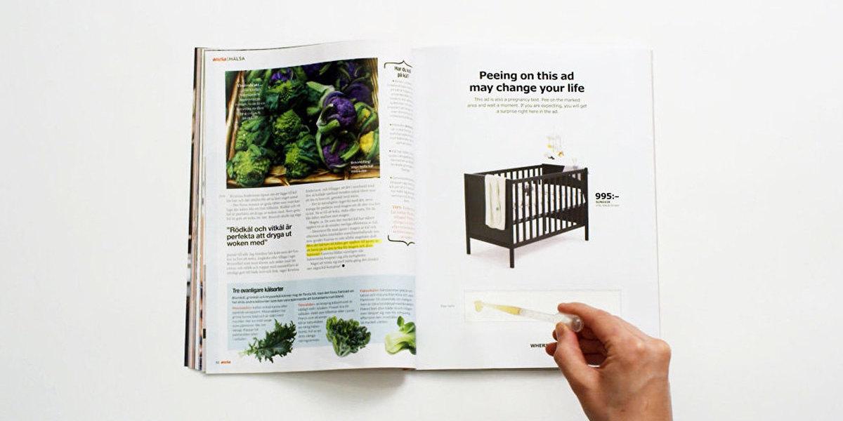 Urinar para uma página com um anúncio da IKEA pode dar direito a desconto