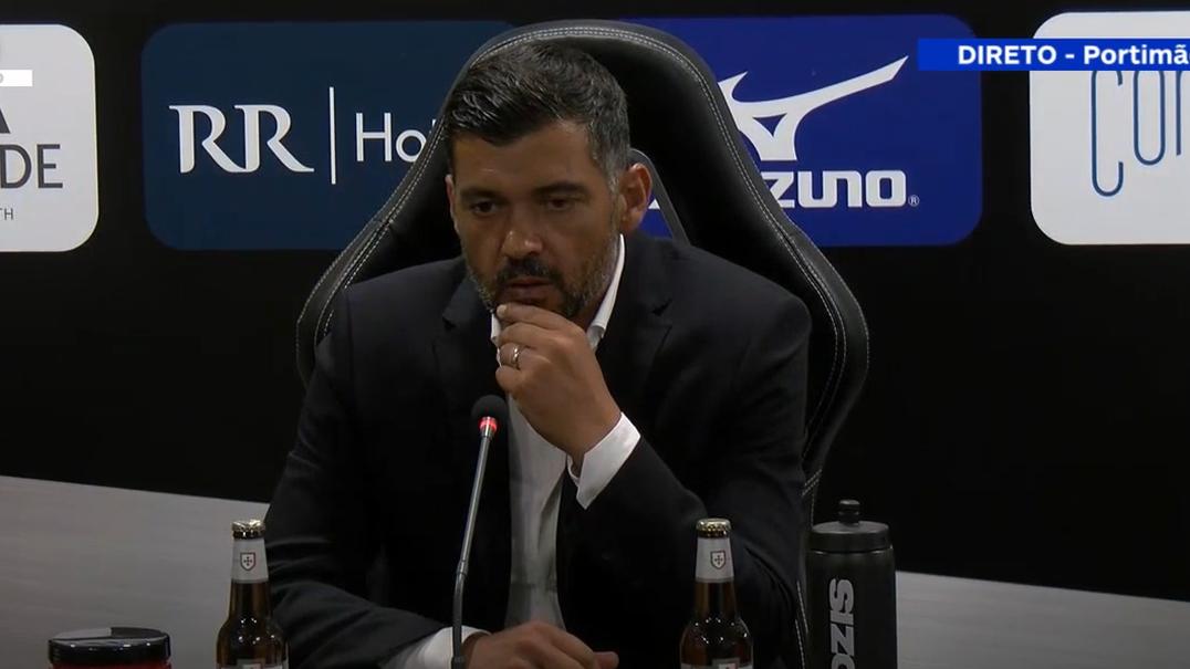"""Sérgio Conceição diz que vitória frente ao Portimonense """"é mais do que justa"""""""