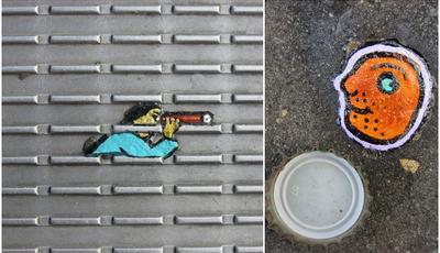 Londres: Chicletes atiradas ao chão transformam-se em arte urbana... em miniatura