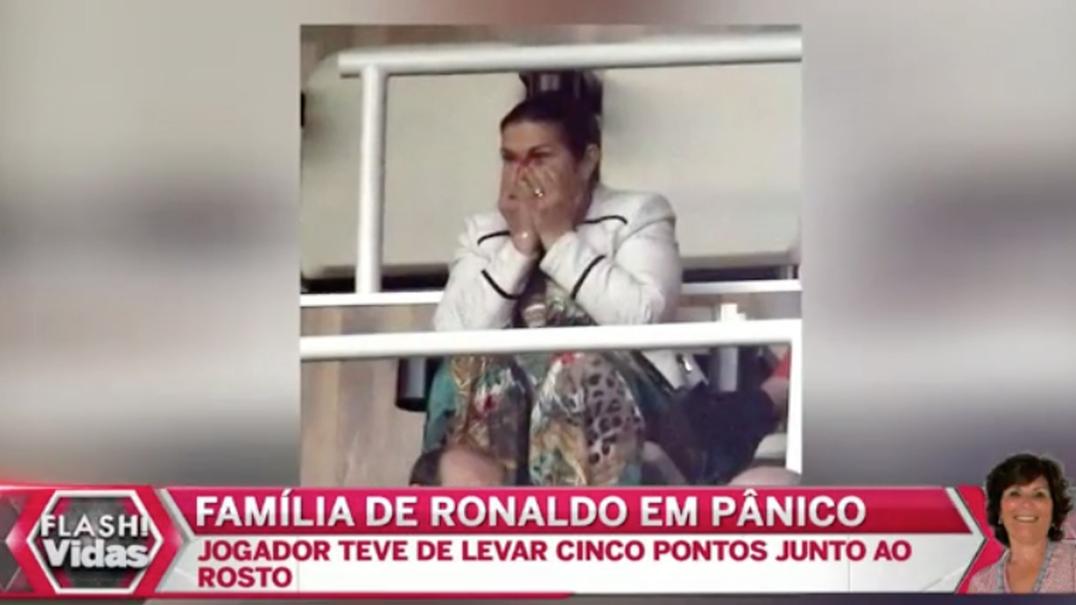 Família de Cristiano Ronaldo em pânico ao vê-lo sangrar