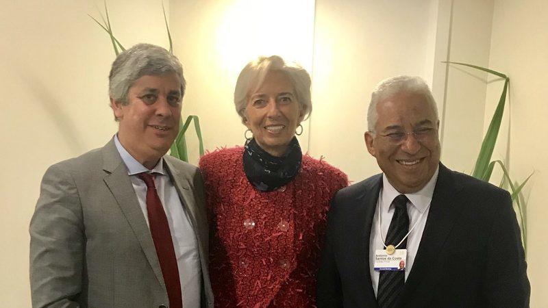 """""""Exige-se um investimento sem precedentes"""". Centeno, Lagarde, Von der Leyen e Michel unidos contra o vírus"""