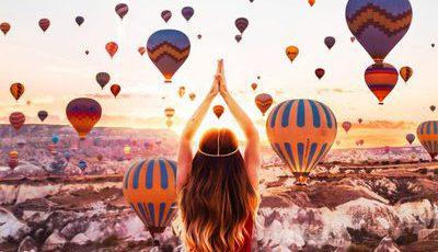 A magia dos balões de ar quente nos céus da Turquia