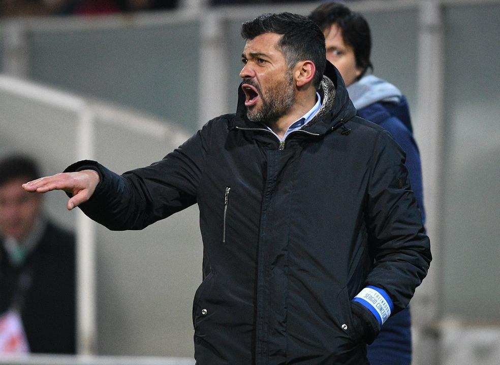 """Sérgio Conceição: """"Para mim estar a perder por 1-0 deixa-me com uma azia dos diabos"""""""