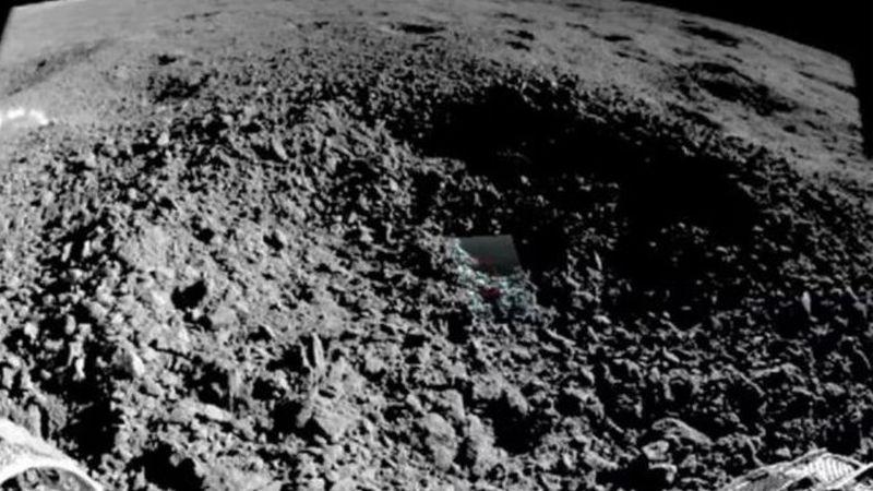 China mostra mais fotos de substância misteriosa encontrada na face oculta da Lua