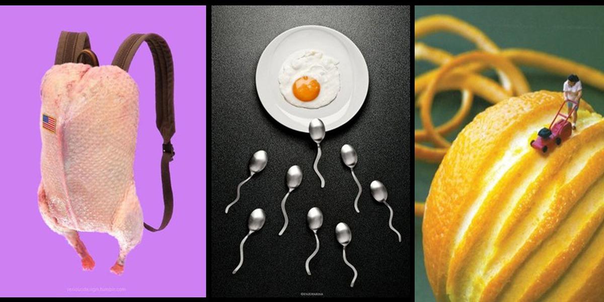 As produções fotográficas com alimentos andam loucas, eis as provas