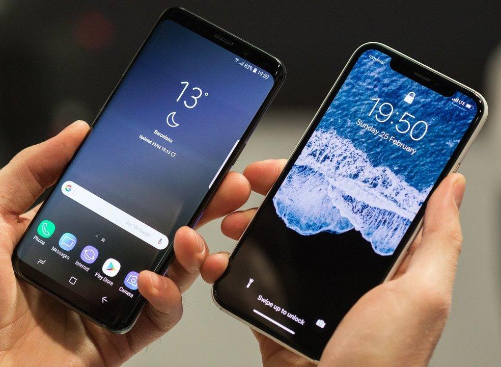 Quem faz downloads mais rápidos, iPhone X ou os novos topo de gama Android?
