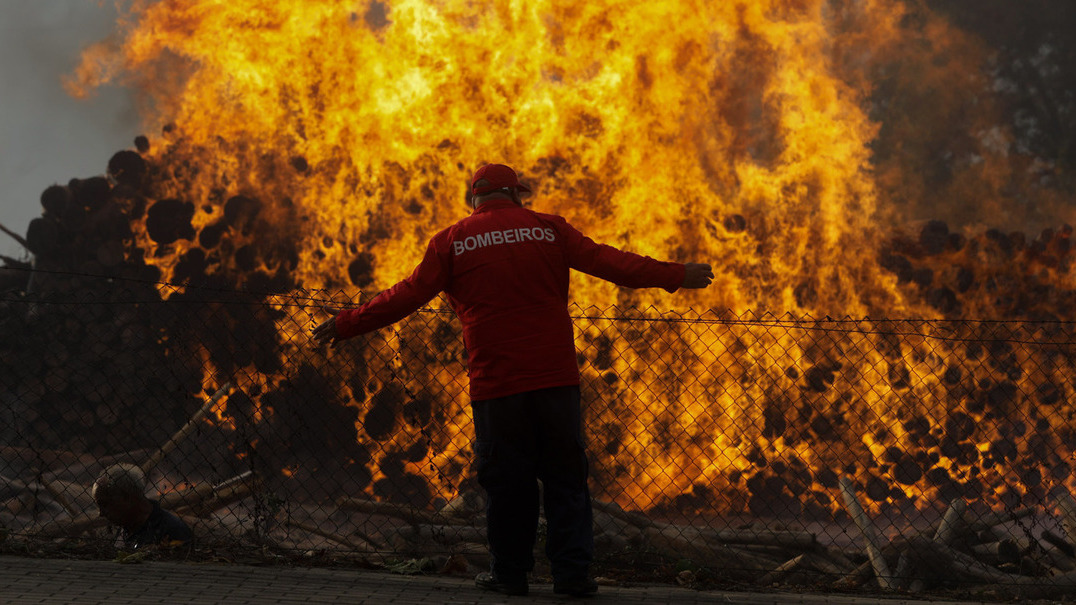 O país a arder