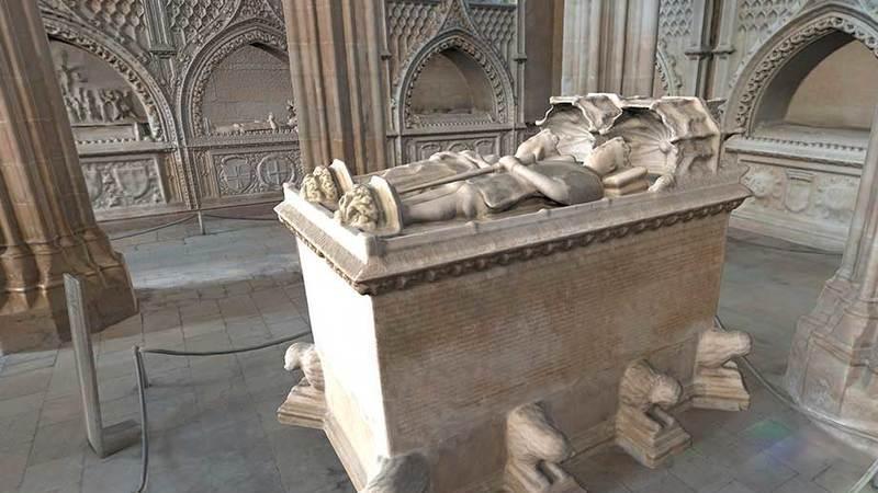 Centenas de anos depois, são reveladas as cores do túmulo de D. João I