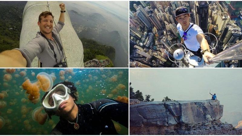 Quando se arrisca a vida por uma 'selfie'. Estes viajantes fizeram-no e dá arrepios só de ver