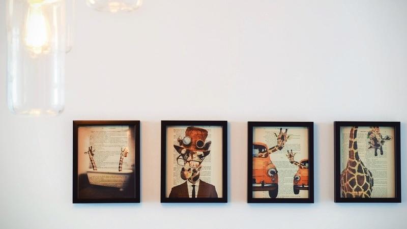 Como colocar vários quadros numa só parede